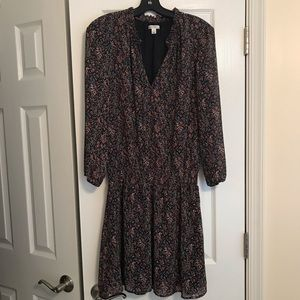 J Crew Mercantile Smocked Tie Front Dress